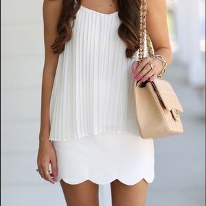 White Scalloped Topshop Skirt